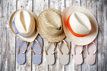 summer tools and beach decoration