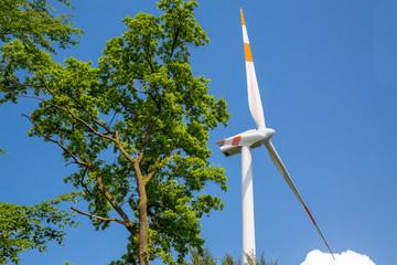 Wind turbines in the Black forest, Germany