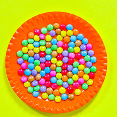 colorful bonbons background