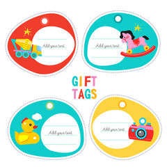 A set of childrens toys. Vector illustration
