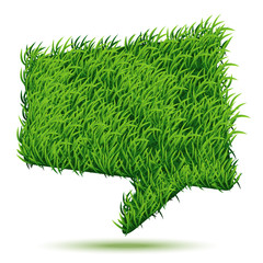 Bubble Green Grass Texture. Vector illustration.