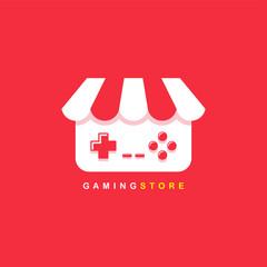 video game shop theme logo template