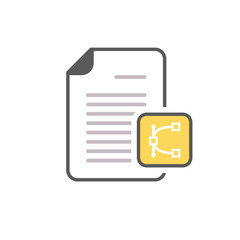 Document edit eps file page icon