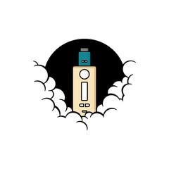 cloudy theme personal vaporizer vape e-cigarette