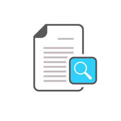 Document file magnifier magnifying glass page icon