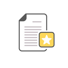 Document favorite file page star icon