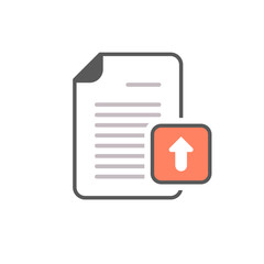 Arrow document file page upload icon