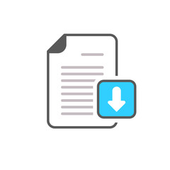 Arrow document download file page icon