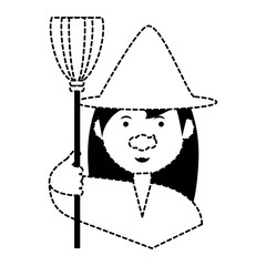 cartoon witch icon image