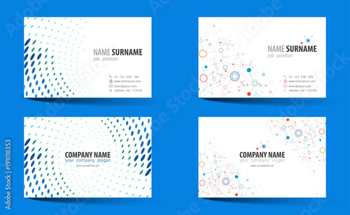 Creative Double Sided Business Card Template Fichier Vectoriel