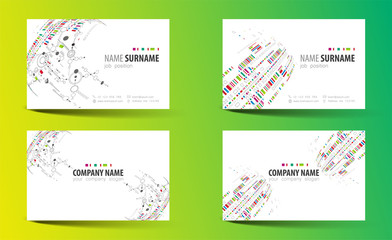 Creative double-sided business card template.