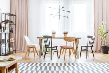 Pastel dining room interior