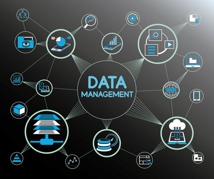 data management network concept diagram