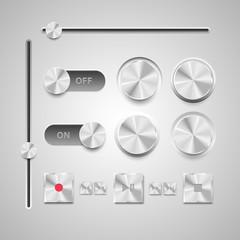 Basic RGBVector illustration set of the detailed UI elements