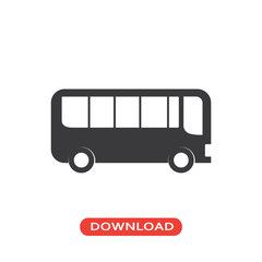 Bus side view icon