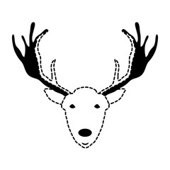 Cartoon deer icon image