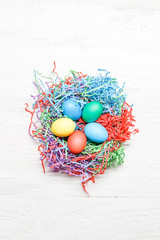 Picture of multi-colored Easter eggs