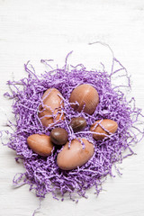 Picture of chocolate Easter eggs