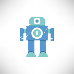 cute robot grunge style