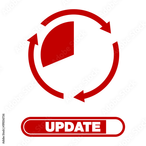 Update Software Icon Concept Of Application Progress For Graphic And Web Design