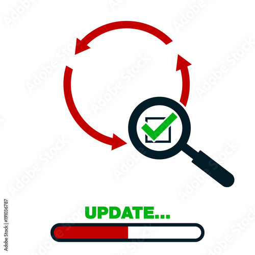 Update Application Progress Icon Upgrade Software Loader Magnifying