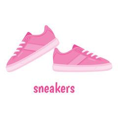 Pink sneakers vector
