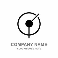 Company Circle Black Target Focus Logo Vector Design Templates
