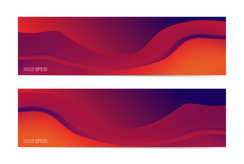 Vector illustration: Set of Liquid colors banners.