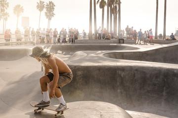 skate park in Venice Beach(Los Angeles)
