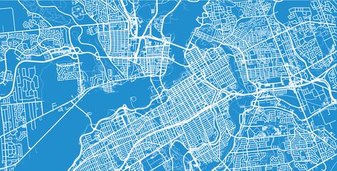 Urban vector city map of Ottawa, Canada