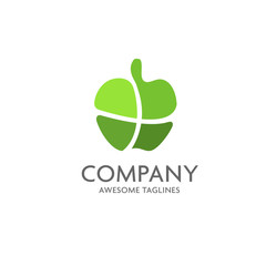 Apples vector logo. Apples icon. Apples logo, Nature Apples logotype. Fruits and vegetables.