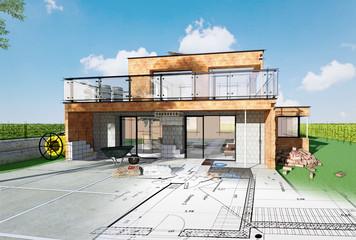 Projet de construction d'une maison d'architecte