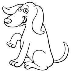 funny dog cartoon character coloring book