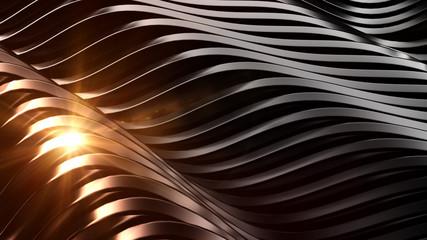 Stylish black background with lens flare. 3d illustration, 3d rendering.