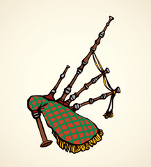 Bagpipes. Vector drawing