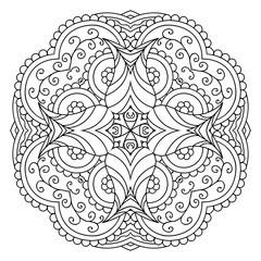 Black and white mandala.