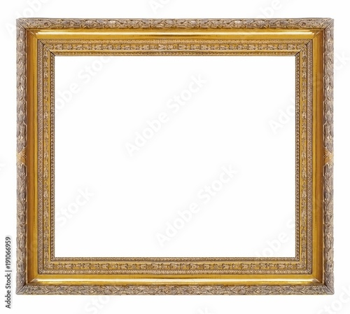 Golden (gilded) frame for paintings, mirrors or photos\