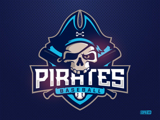 Modern professional emblem pirates for baseball team