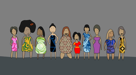women of different shapes race, and sizes