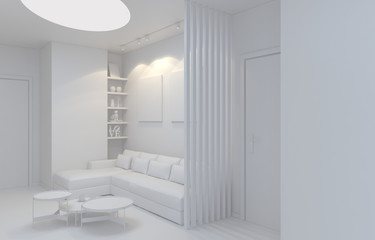render of private lobby space