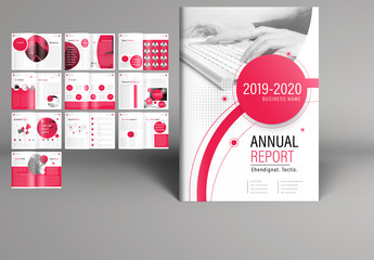 Red and White Annual Report Layout 1