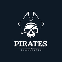 Modern professional emblem pirates for american football team