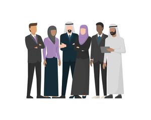Muslim arab businesspeople