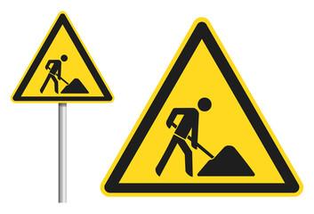 Gefahrenschild Bauarbeiten