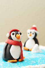 Winter Penguin Sculpture