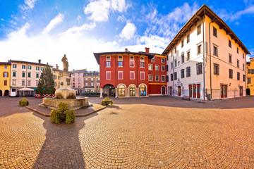 Town of Cividale del Friuli colorful Italian square panoramic view