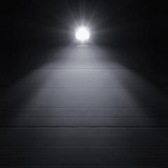 Bright shining lantern lamp light illumination glow shadows night rustic textured industrial building wall panels texture pattern large detailed vertical closeup copy space background dark grey black