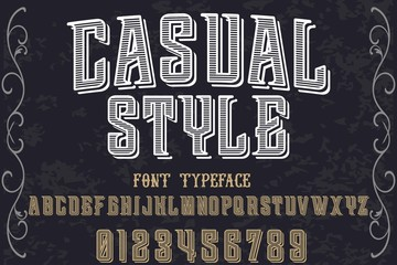 Vintage Font handcrafted vector script alphabet,design handwritten