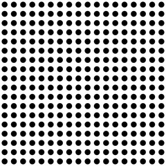 Seamless polka dot pattern in black and white