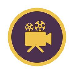 Retro Kino Symbol auf weißem Hintergrund